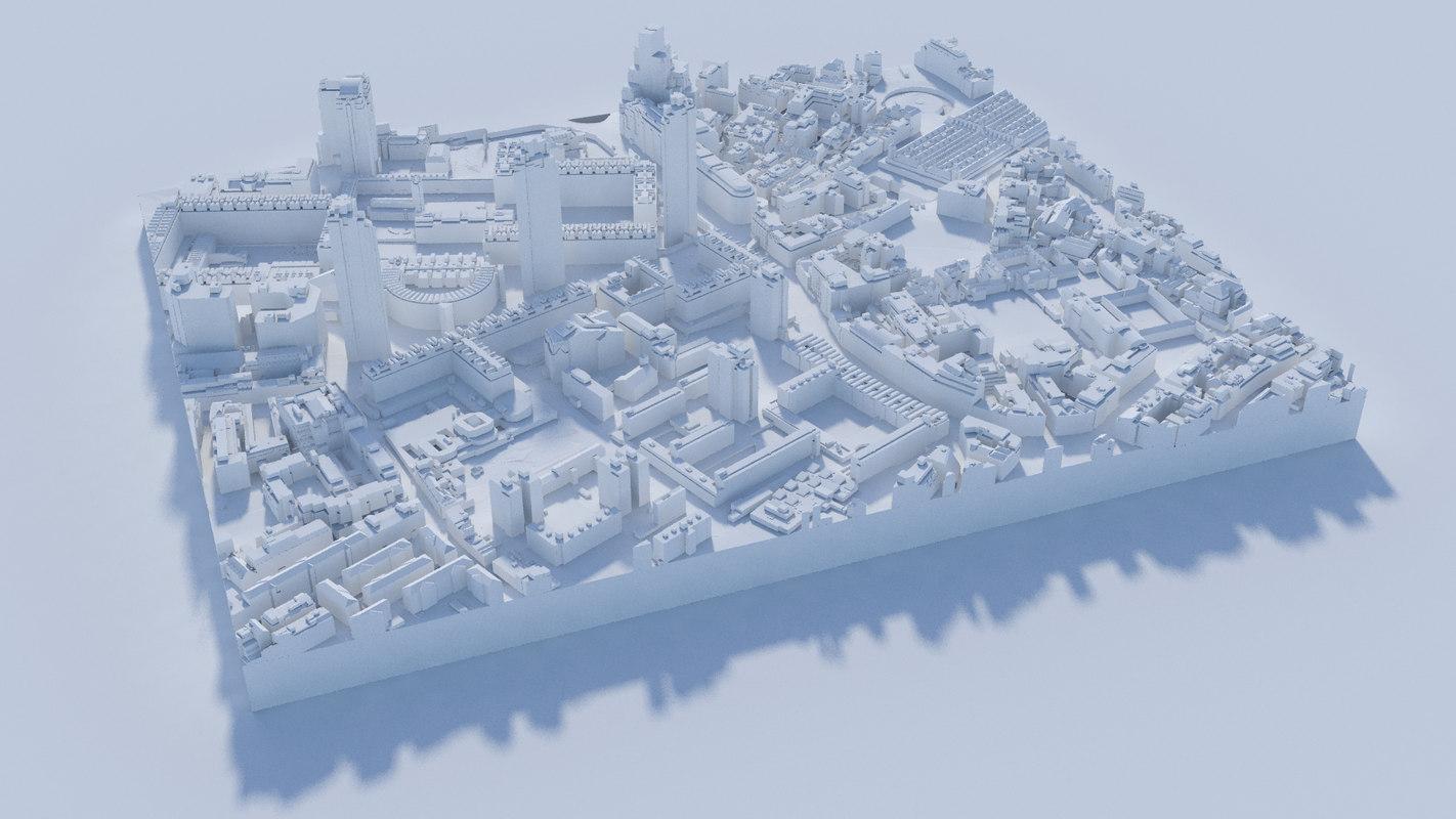 buildings london 3D model