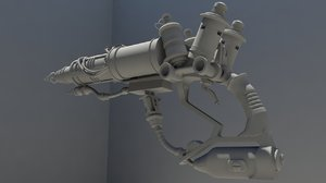 3D super sonic blaster model