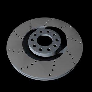 vag brake disk 3D model