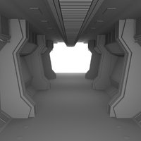 3D model scifi interior
