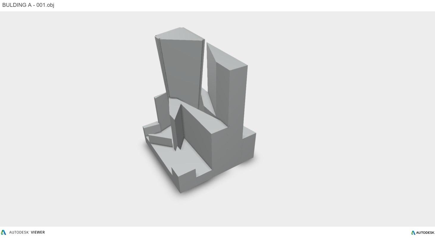volumes building architecture 3D model