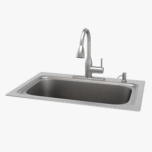 3D kitchen sink