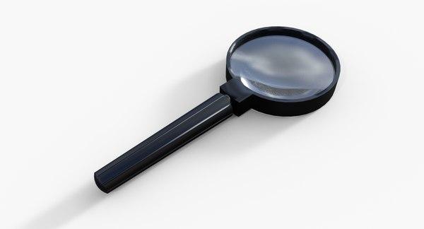 3D magnifying glass model