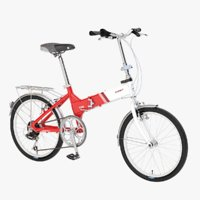 Photorealistic Giant Fd806 Lightweight Red-White Folding Bicycle