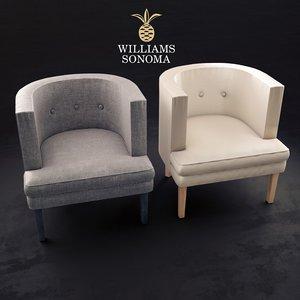 geoffrey chair seat 3D model