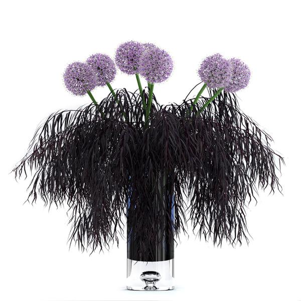 realistic agonis allium flowers 3D model