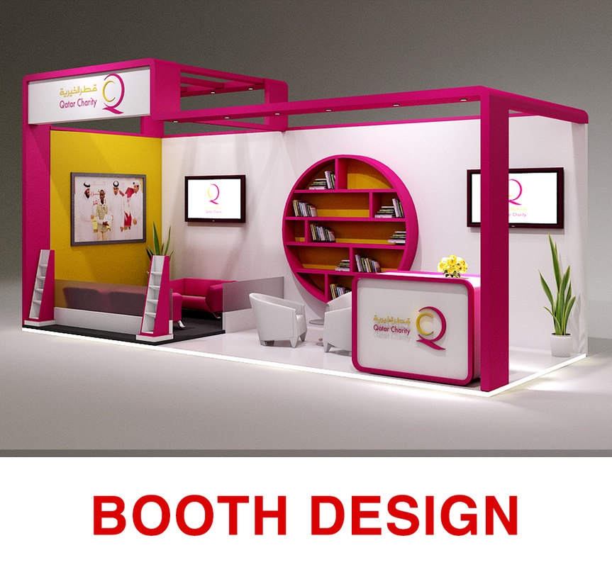 booth exhibition stand 3D