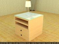 3D bedside comodino lamp