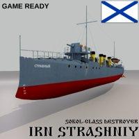 Sokol Class Destroyer Strashniy