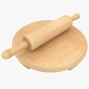 rolling pin board 3D