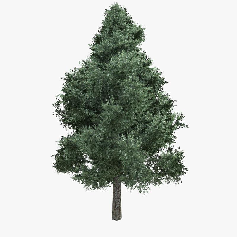 3D model tree green