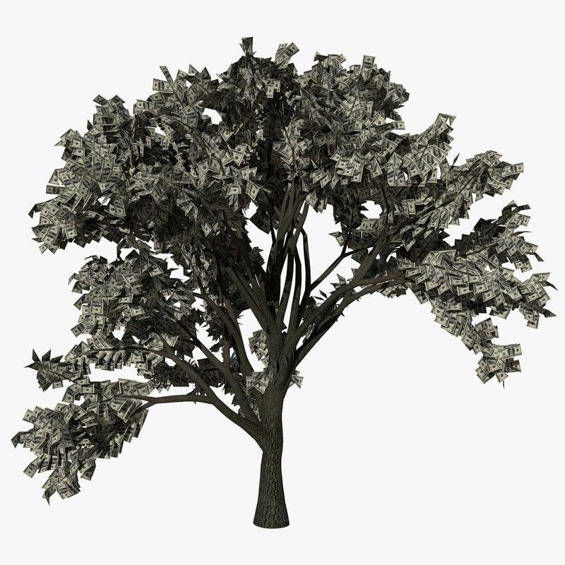 3D model money tree