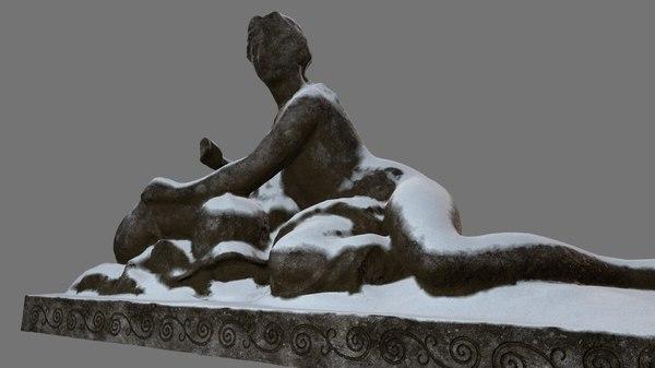 3D woman statue