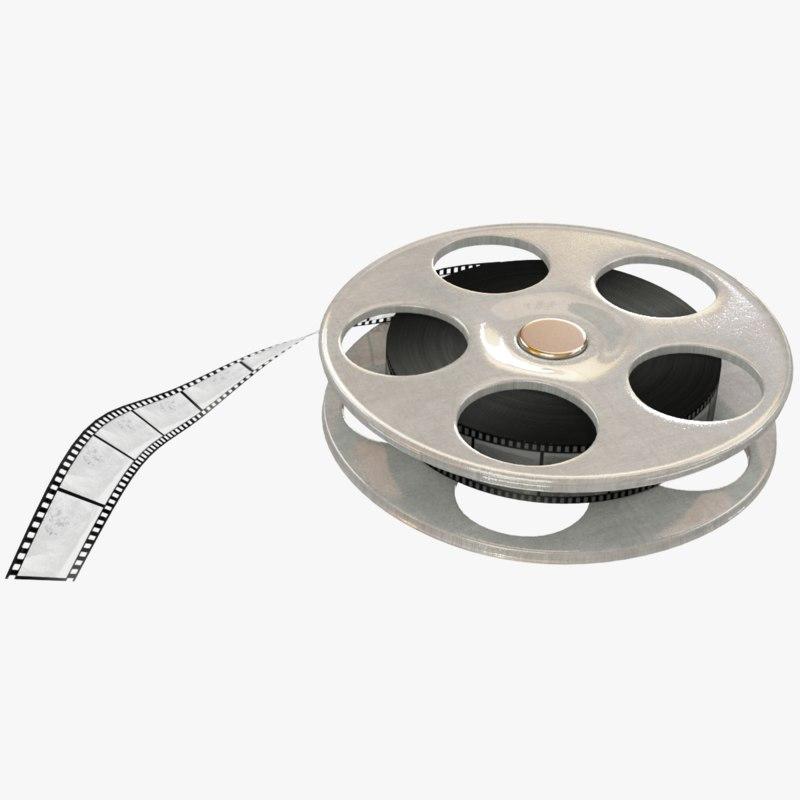 movie reel 3D model