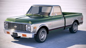 3D model chevrolet c10 cheyenne