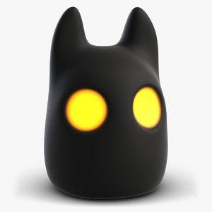 cute nocturne creature 3D model