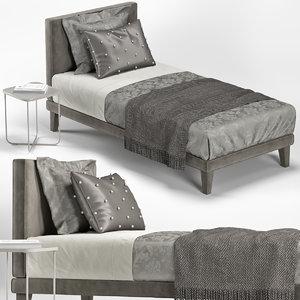 3D single bed model