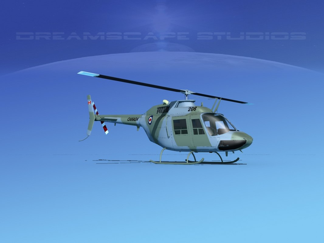 3D rotor oh-58 bell 206