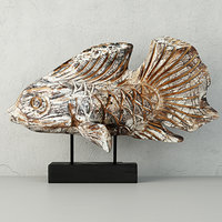3D model hand-carved driftwood fish stand