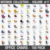 Interior Collection Vol.17 - Office Chairs 150 Pack