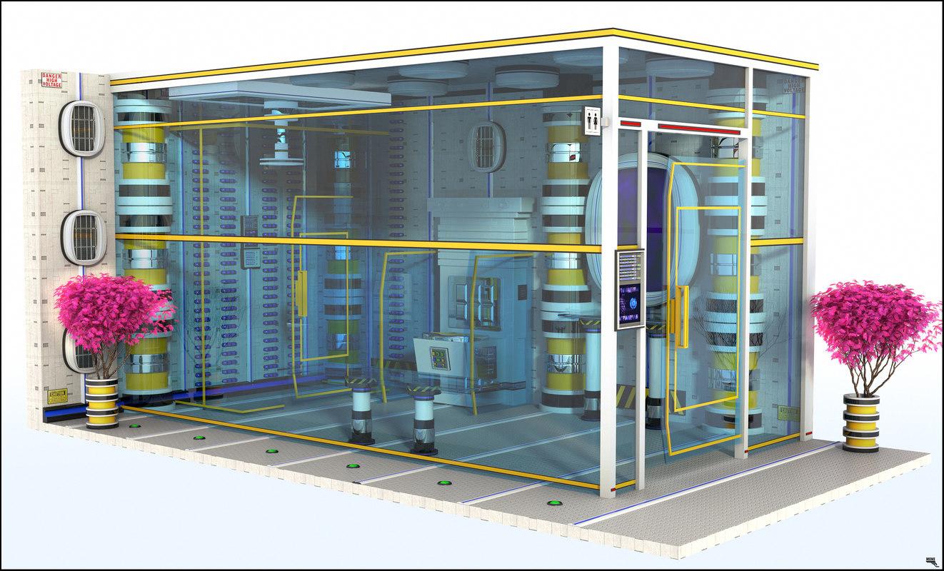 bathroom room sci-fi 3D model