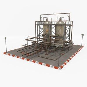 oil refinery 1 3D