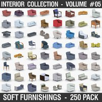 Interior Collection Vol.05 - Soft Furnishings 250 Pack