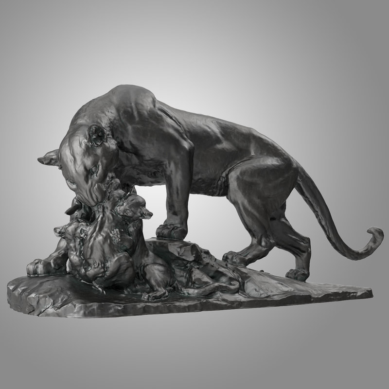 panther statue 3D