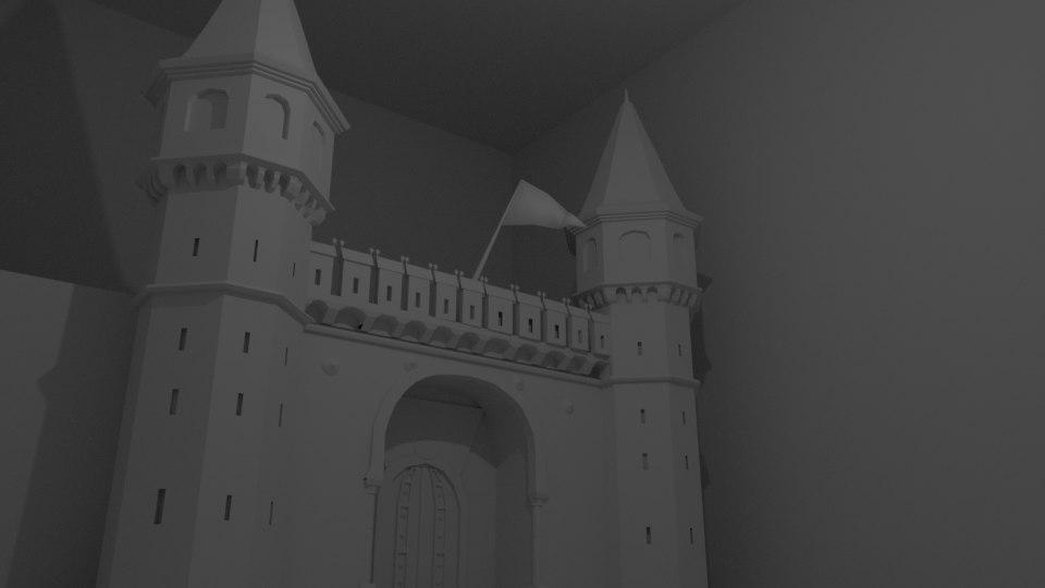 3D gate ottoman architectural