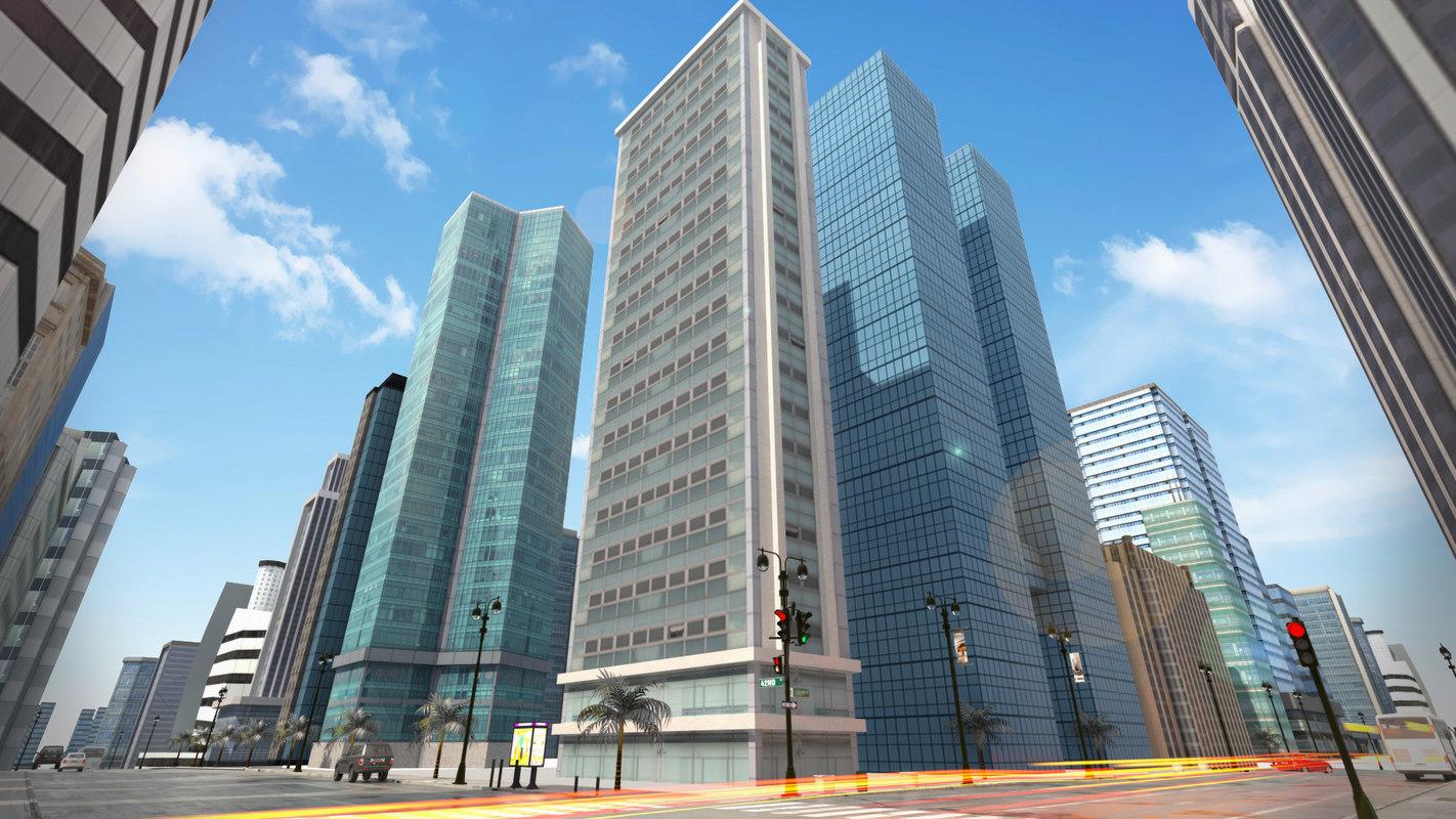 pack buildings city model