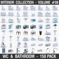 bathroom fixtures - 150 3D