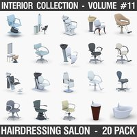 Interior Collection Vol.11 - Hairdressing Salon 20 Pack