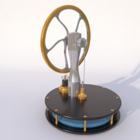 Stirling engine animated