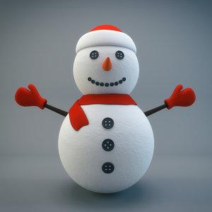 snowman snow man 3D model