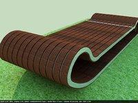 3D urban bench model