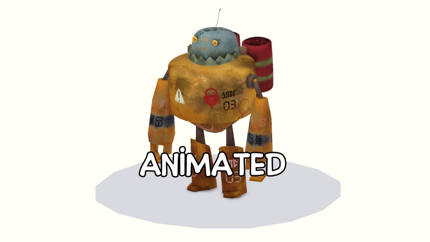 3D robot war character model