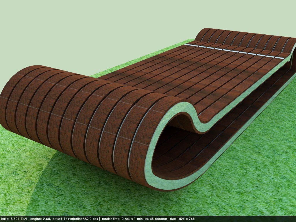 urban benches 3D model