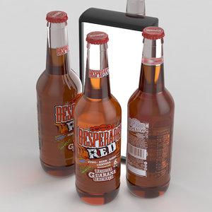 beer desperados red 3D model