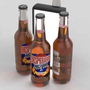 3D beer desperados nocturno model