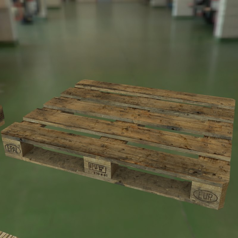 3D pallets pack pbr