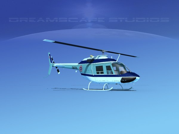 rotor oh-58 bell 206 3D