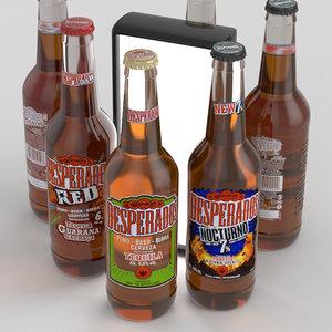 desperados bottles 3D model