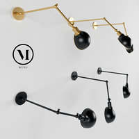 Hudson Wall by Soren Rose, Menu / Ceiling Lamp / bronze and black
