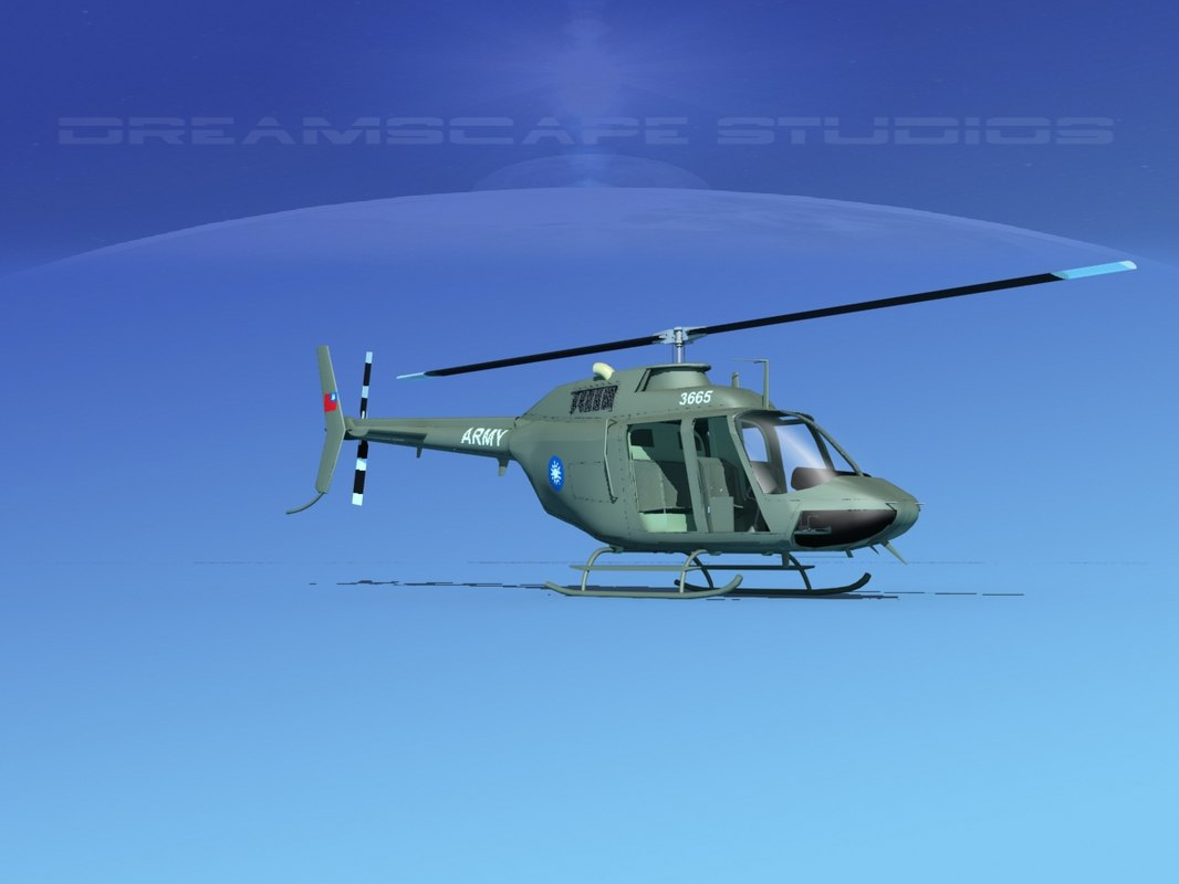 3D model rotor oh-58 bell 206