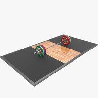 3D eleiko barbell model