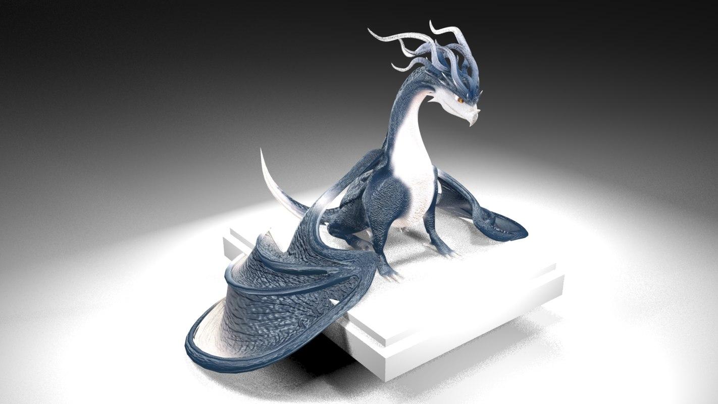 water dragon 3D model