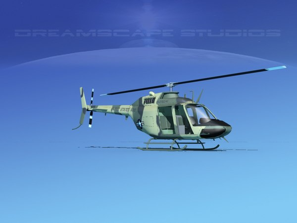 3D rotor oh-58 bell 206 model