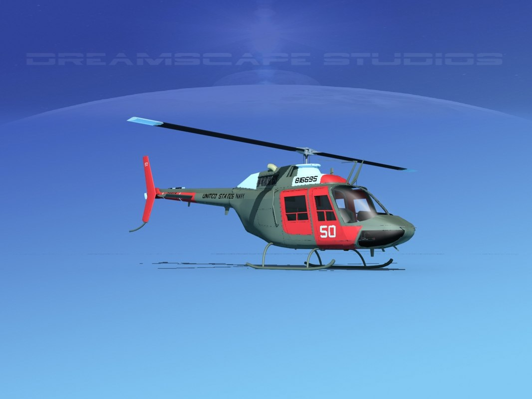 rotor oh-58 bell 206 3D model