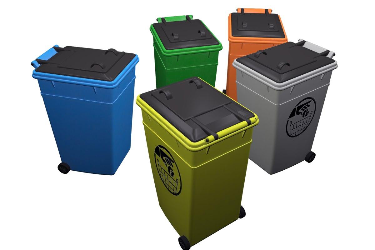 3D furniture dumpster
