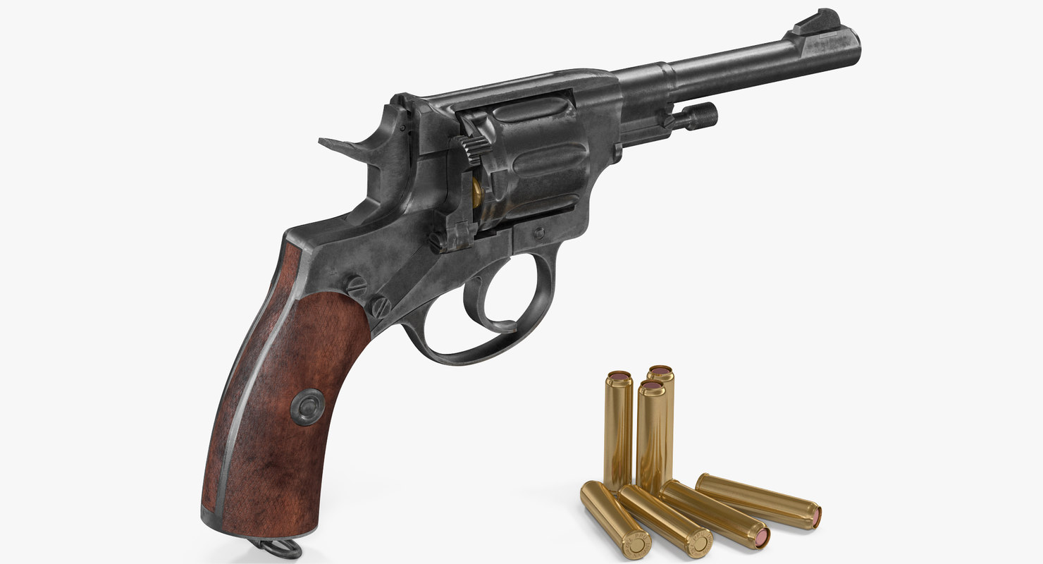 revolver nagant m1895 3D